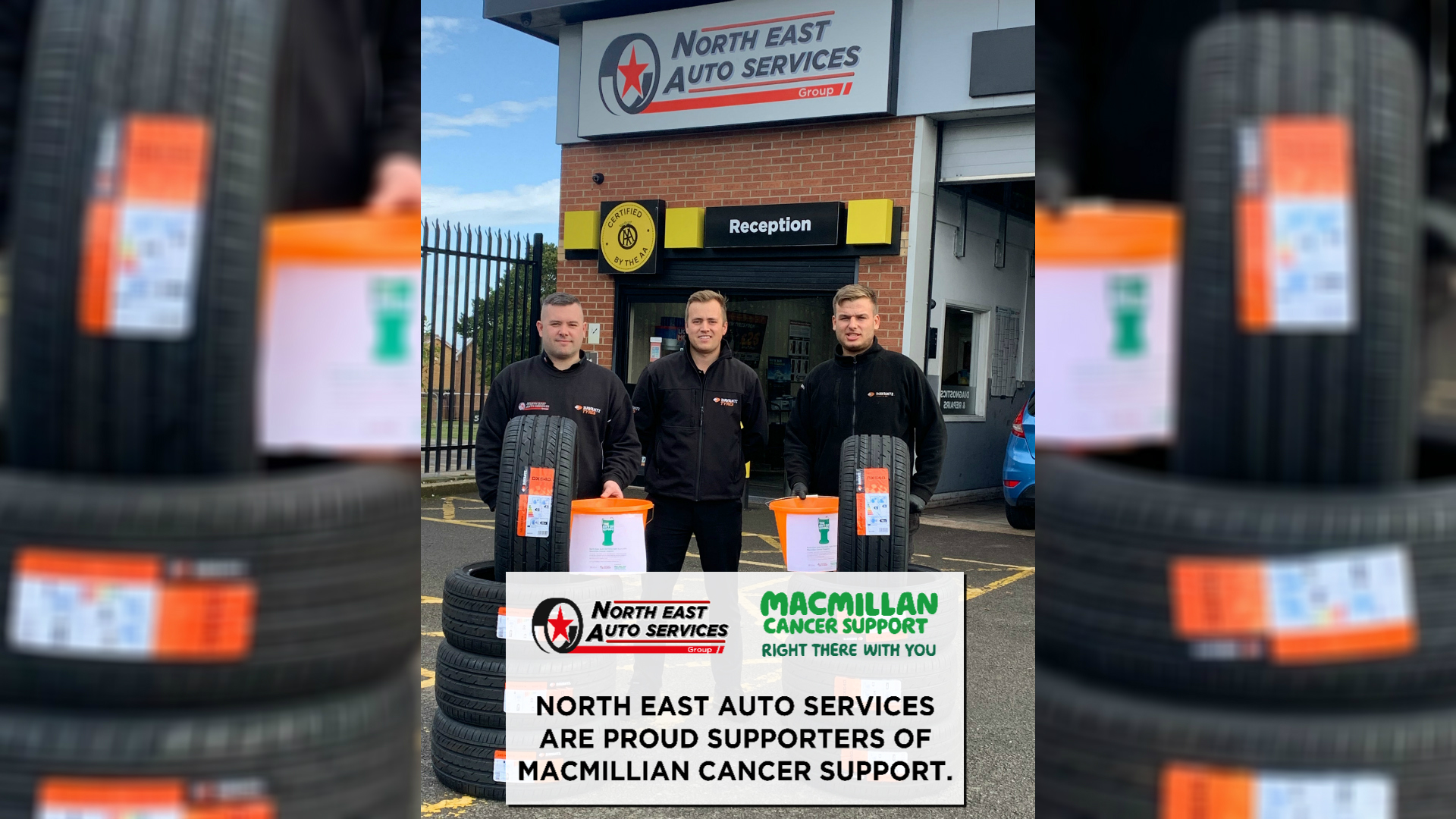 North East Auto Services right there with Macmillan Cancer Support